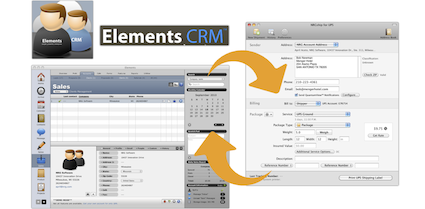Shipping from Elements CRM