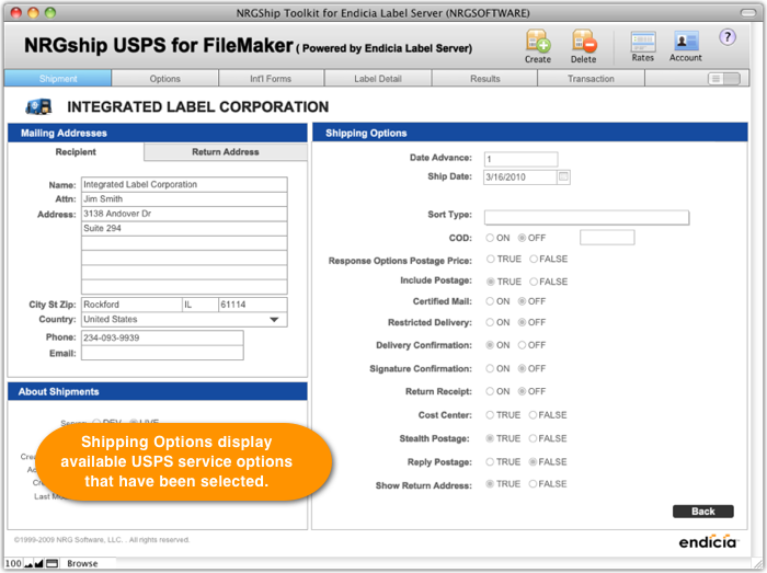 NRGship USPS - FileMaker Shipping Software | NRG Software