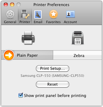 NRG: Mac & FileMaker Shipping Software :: Can I print to my