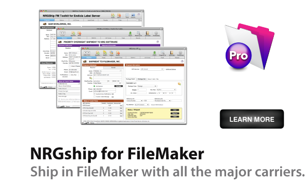 UPS FedEx Endicia Shipping Software for FileMaker Pro